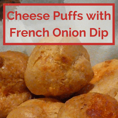 The Chew: Cheese Puffs With French Onion Dip Recipe