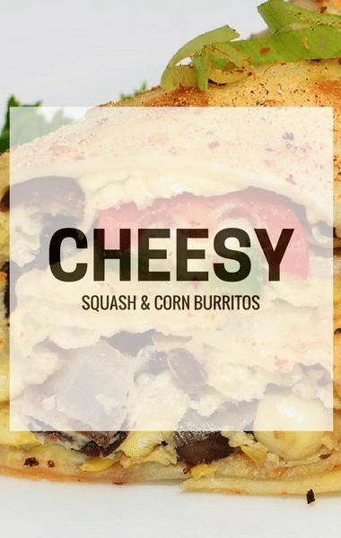 Rachael Ray: Cheesy Squash & Corn Burritos Recipe