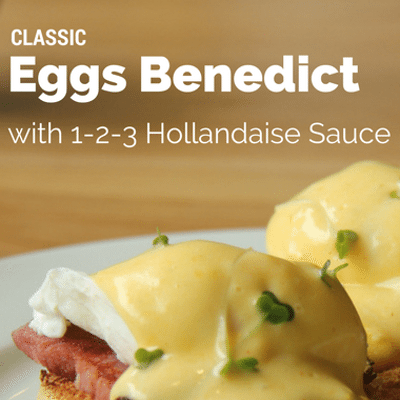 Rachael Ray: Classic Eggs Benedict With 1-2-3 Hollandaise Sauce