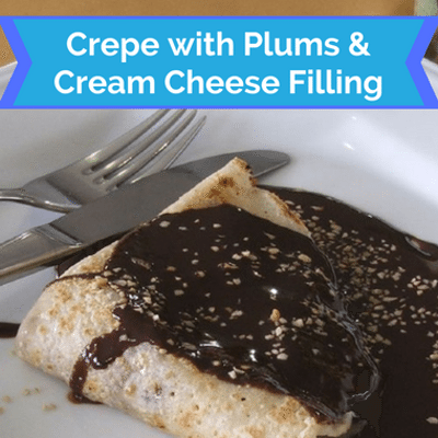 The Chew: Crepe With Plums & Cream Cheese Filling Recipe