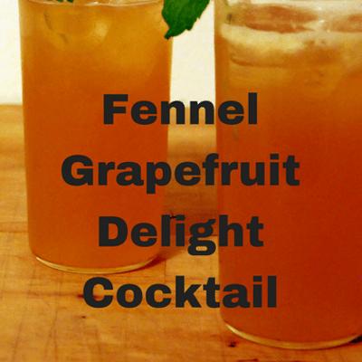 The Chew: Fennel Grapefruit Delight Cocktail Recipe
