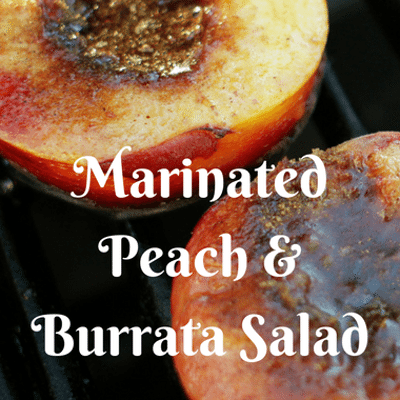 The Chew: Marinated Peach & Burrata Salad Recipe