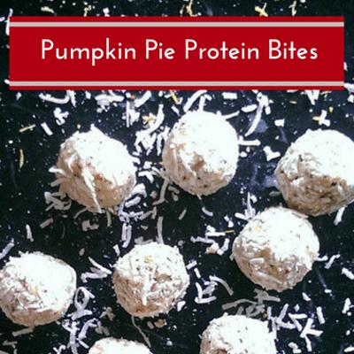 Rachael Ray: Bob Harper Pumpkin Pie Protein Bites Recipe