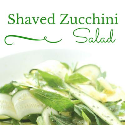 The Chew: Shaved Zucchini Salad Recipe
