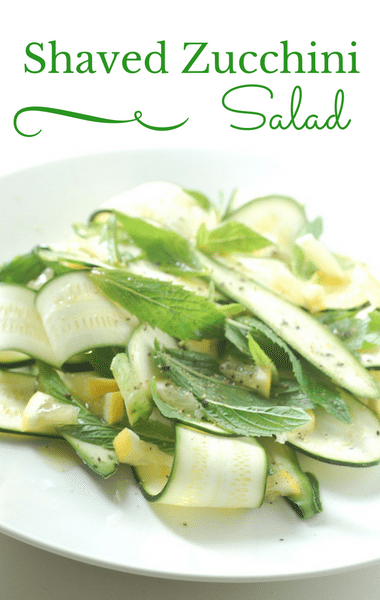 The Chew: Shaved Zucchini Salad Recipe