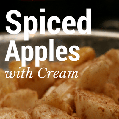 The Chew: Spiced Apples With Cream Recipe