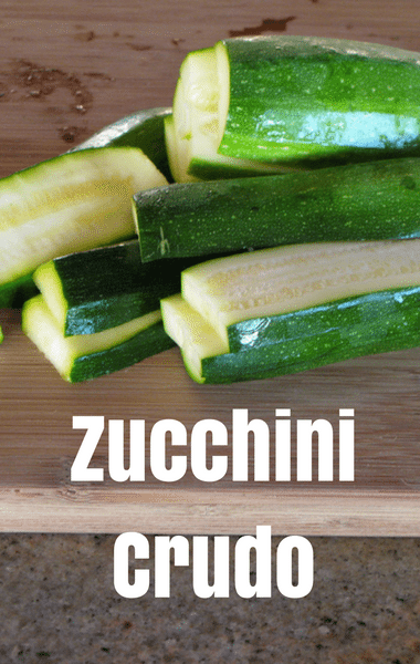 Rachael Ray: Michael Symon Zucchini Crudo Recipe