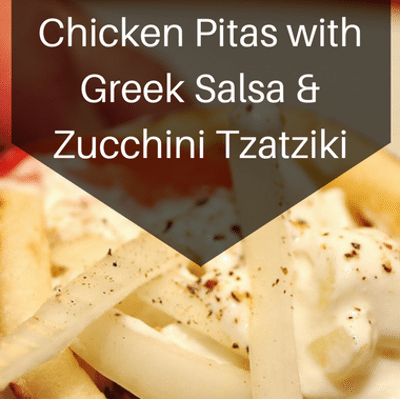 Rachael Ray: Chicken Pitas With Greek Salsa & Zucchini Tzatziki