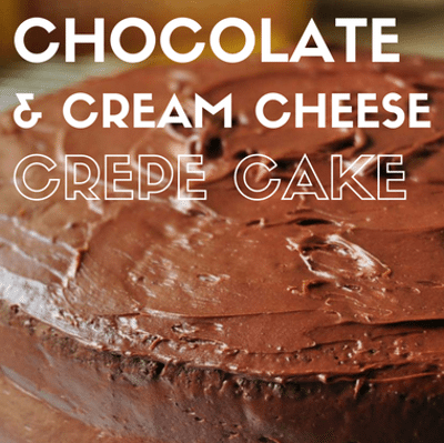 Rachael Ray: Chocolate & Cream Cheese Crepe Cake Recipe