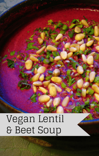 Rachael Ray: Vegan Lentil & Beet Soup Recipe