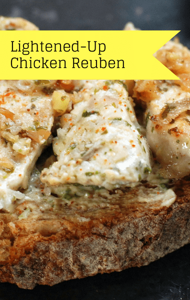 The Chew: Lightened-Up Chicken Reuben Recipe
