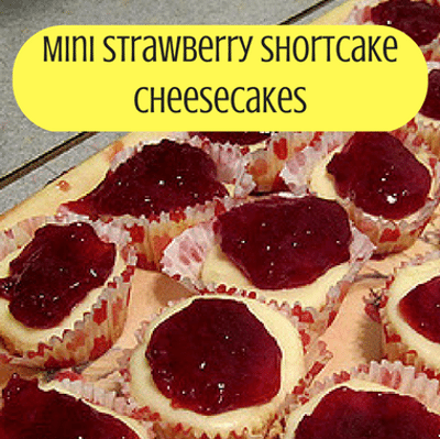 The Chew: Mini Strawberry Shortcake Cheesecakes Recipe