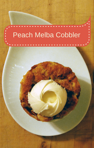 The Chew: Peach Melba Cobbler Recipe